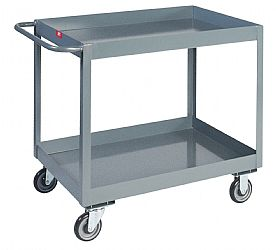 "Model NT - 2 Shelves 3"" Deep Lipped Service Carts"