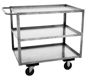 Model XA - Stainless, 3 Shelves, Standard Handle