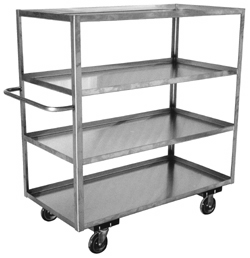 Model XD - Stainless 4 Shelf Truck