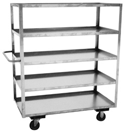 Model XE - Stainless 5 Shelf Truck