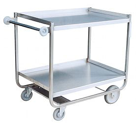 "Model XF - Stainless ""U"" Frame - 2 Shelves (8"" & 5"" wheels)"