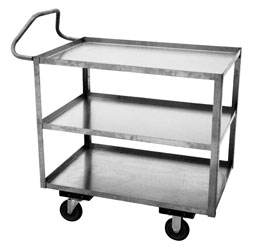 Model XT - Stainless, 3 Shelves - Ergonomic Handle