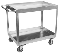 Model XZ - Stainless 2 Shelf Service Cart