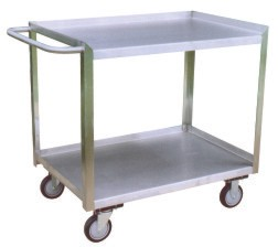 Model XK - 2 Shelf - One Side (Right) Lips Flush Cart