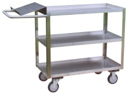 Model YO - Stainless Steel 3 Shelf Writing Stand Cart
