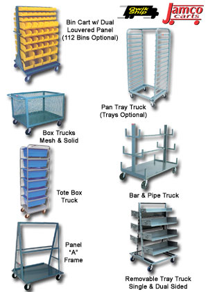 RUGGED HEAVY-DUTY STORAGE CARTS