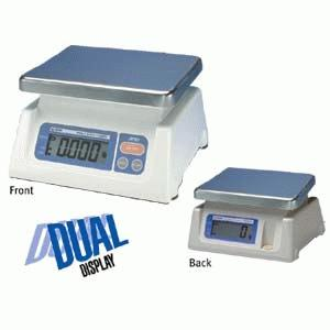 Dual Display Digital Scale with Stainless Steel Pan - SK-D Series