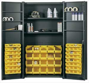 BIN & SHELF STORAGE CABINET
