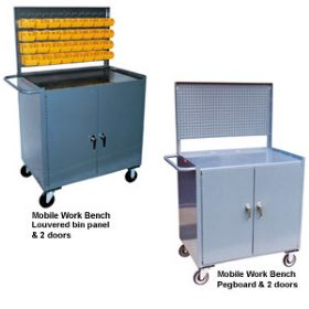MOBILE WORKBENCHES & CABINETS WITH RACKS