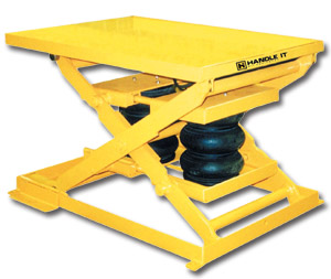 PNEUMATIC SCISSOR LIFTING TABLES