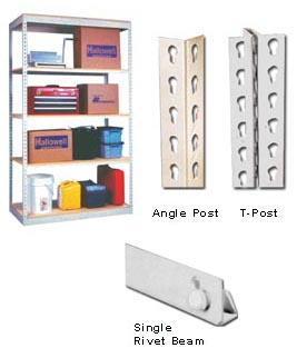 SINGLE RIVET BOLTLESS SHELVING