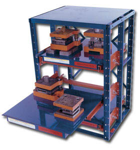 HIGH DENSITY E-Z GLIDE ROLL-OUT SHELVING