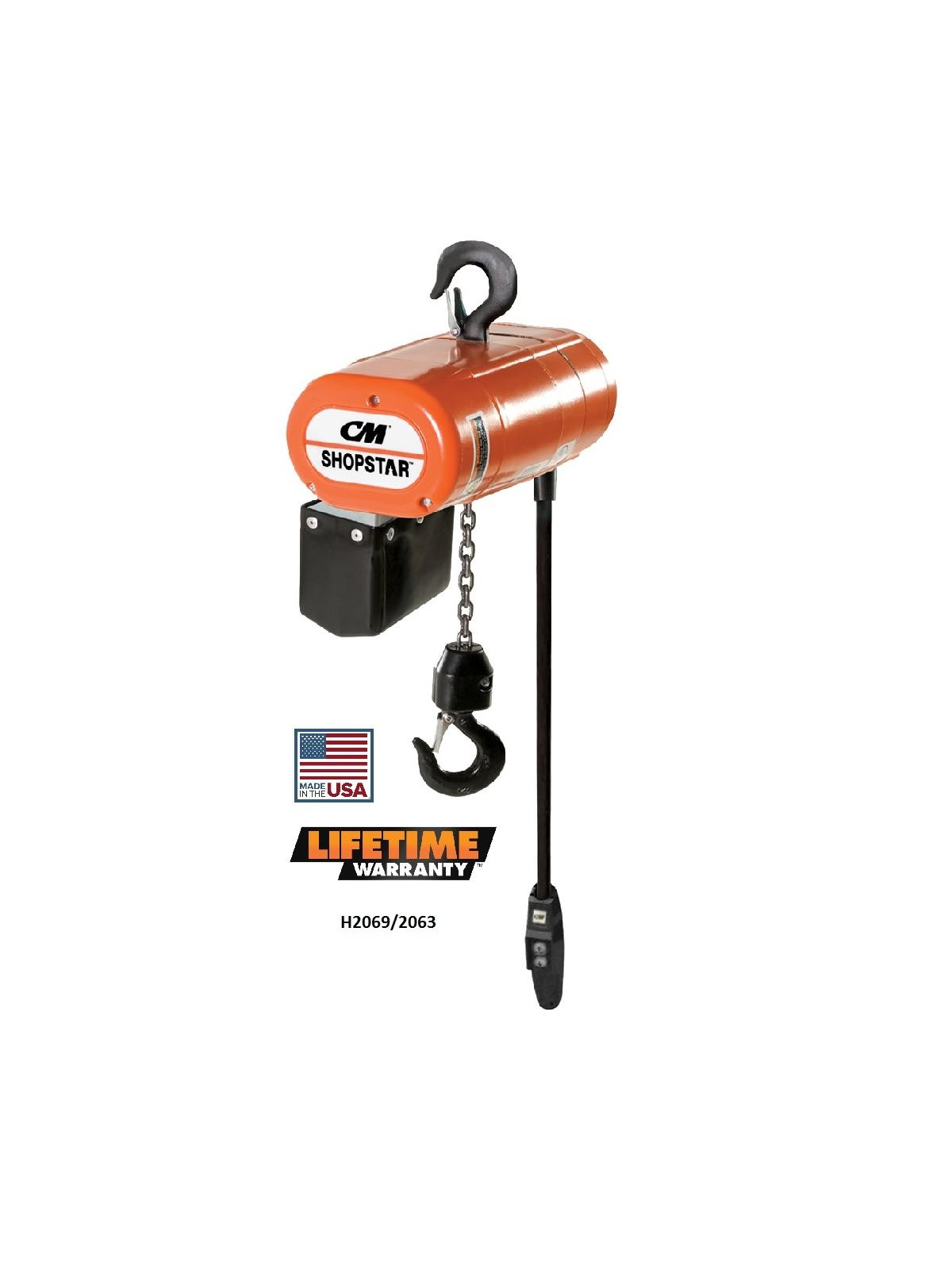 Cm Shopstar Electric Chain Hoist At Nationwide Industrial