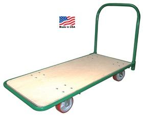 STEEL FRAME HARD WOOD DECK PLATFORM TRUCK