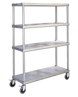 NON-CORROSION SHELF CARTS