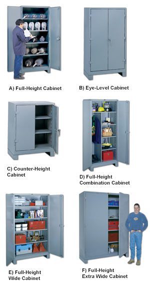 ALL-WELDED HEAVY DUTY STORAGE CABINETS
