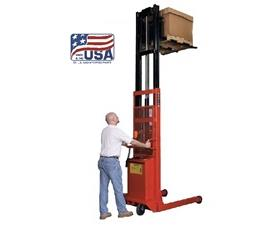 Power Lift Forklift Stacker | Nationwide Industrial Supply