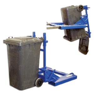 FORK MOUNTED TRASH CAN DUMPER