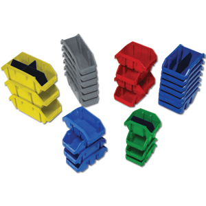QUICK PICK DOUBLE SIDED HOPPER PLASTIC BINS