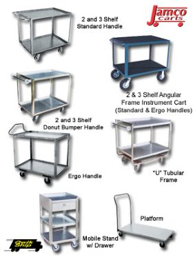 STAINLESS, ALUMINUM & INSTRUMENT CARTS