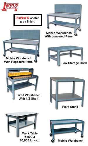 FIXED & MOBILE WORKBENCHES TABLES & STANDS