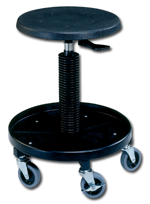 PNEUMATIC LIFT STOOL ON CASTERS · MECHANICu0027S STOOL
