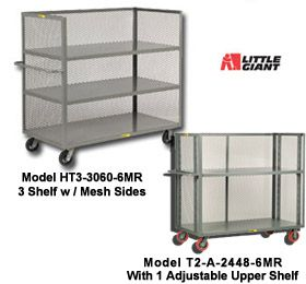 3-SIDED SHELF CARTS