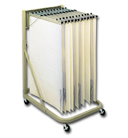 STEEL FLAT FILES, MOBILE VERTICAL FILING STAND