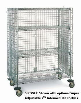 SUPER ERECTS MOBILE SECURITY CART