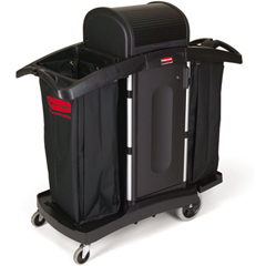 Full Size High-Security Housekeeping Cart with Locking Hood