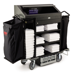 Deluxe High-Security Metal Housekeeping Cart