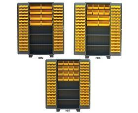 PLASTIC BIN & SHELF CABINET - SOLID DOORS