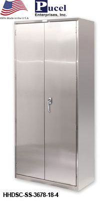 STAINLESS FLUSH DOOR STORAGE CABINET