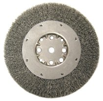 Anderson Brush Medium Face Crimped Wire Wheels-DMX Series-1 Dense Section