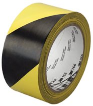 3M Industrial Hazard Marking Vinyl Tapes 766