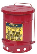 Red Oily Waste Cans
