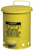 Yellow Oily Waste Cans