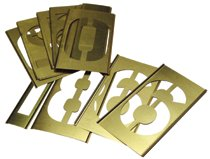 C.H. Hanson® Brass Stencil Number Sets