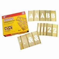 C.H. Hanson® Brass Stencil Letter & Number Sets