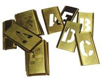 C.H. Hanson® Brass Stencil Gothic Style Letter Sets