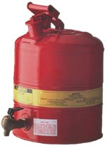 Red Steel Safety Cans for Laboratories
