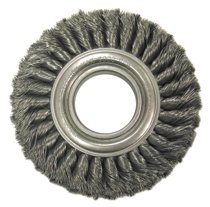 Anderson Brush Wide Face Standard Twist Knot Wire Wheels-TW Series-Carbon Steel