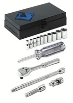 "Armstrong Tools 15 Piece 1/4"" Dr. Socket Sets"
