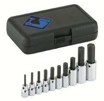 "Armstrong Tools 10 Piece 3/8"" & 1/2"" Dr. Hex Bit Socket Sets"