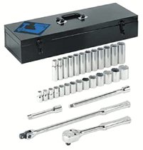 "Armstrong Tools 30 Piece 1/2"" Dr. Socket Sets"