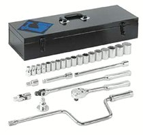 """Armstrong Tools 26 Piece 1/2"""" Dr. Socket Sets"""