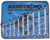 Armstrong Tools 10 Pc. Fractional Geared Combination Wrench Sets (Roll)