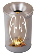 Justrite Cease-Fire® Waste Receptacles