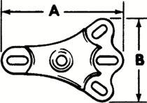 Proto® Rear Axle Flange Foots