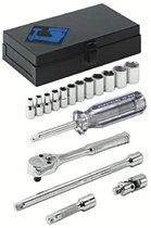 "Armstrong Tools 17 Piece 1/4"" Dr. Socket Sets"